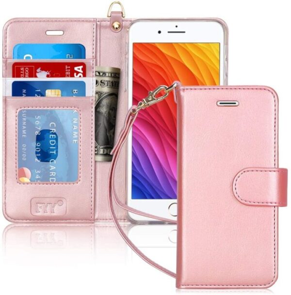 Latest FYY iPhone 8 Plus Wallet Case Leather
