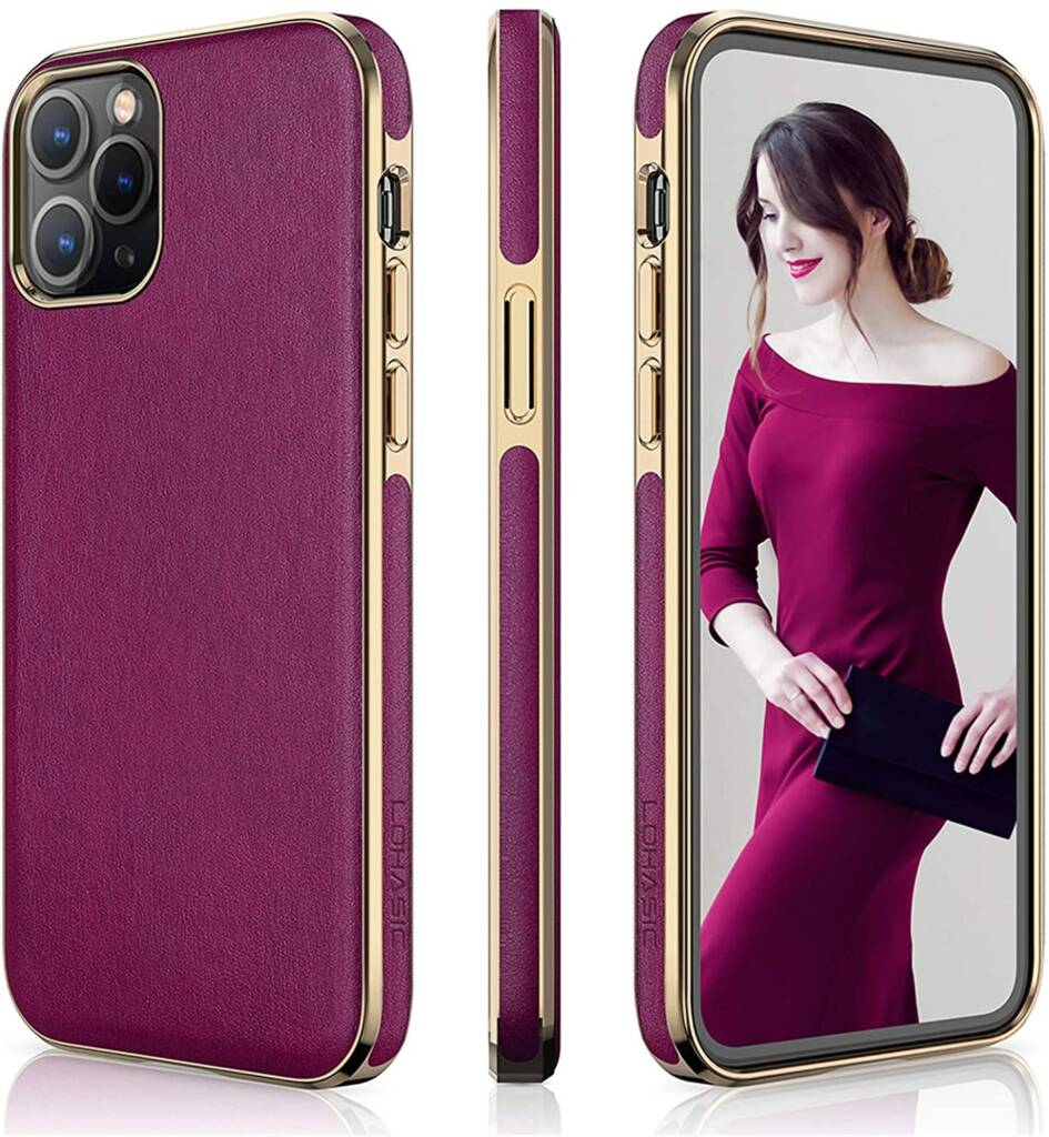 Beautiful LOHASIC Leather Case For iPhone 12 Pro Max For Women
