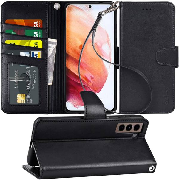 Latest Arae Samsung Galaxy S21 Wallet Case With Screen Protection