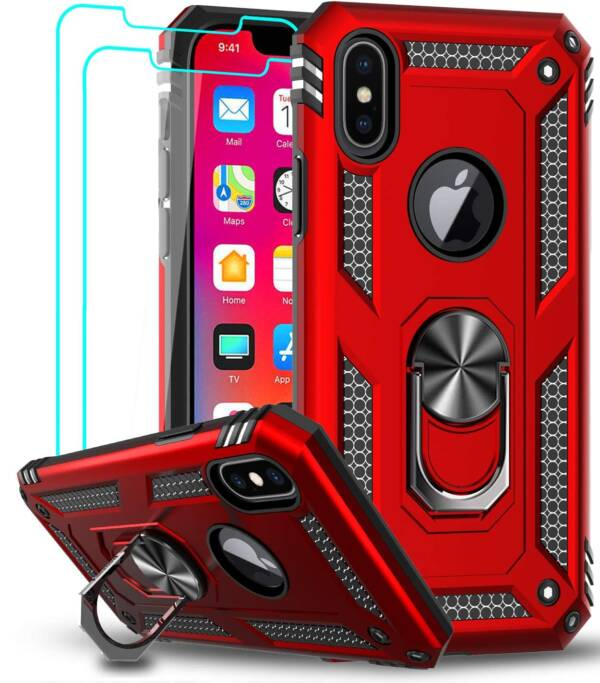 Latest LeYi Case for iPhone Xs Max With 2-PCs Screen Protector