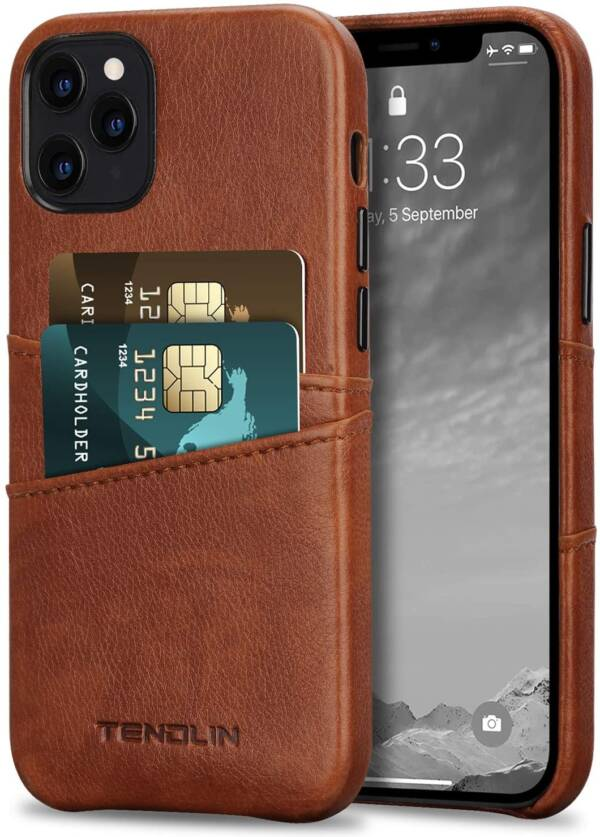 iPhone 12 Pro Max Leather Wallet Case