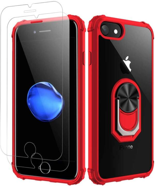 Amuoc Protective Case For Iphone 7/8 With Glass Protector