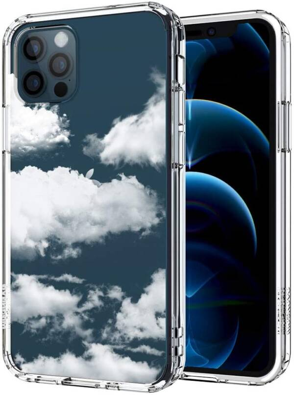 New MOSNOVO Cloud Pattern Case For iPhone 12 &12 Pro