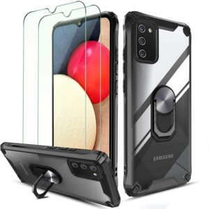 Latest QHOHQ Protective Case for Samsung Galaxy A02S with Tempered Glass