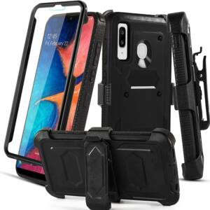 Aetech Reliable Samsung Galaxy A20 Case with Belt Clip Holder