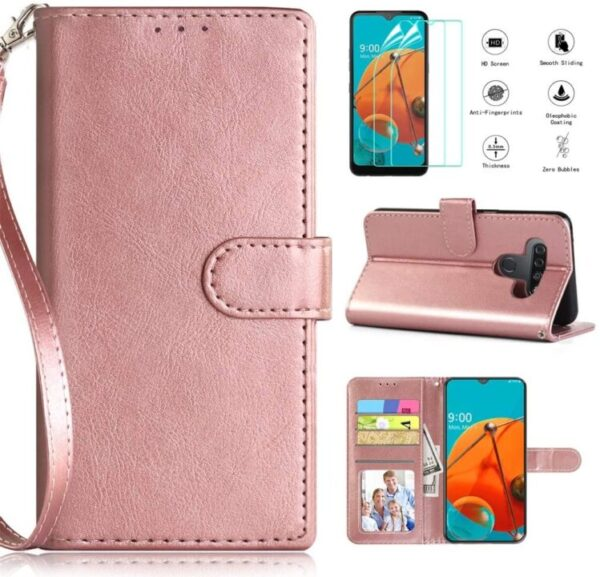 New CASEKEY LG K51 Wallet Case With HD Screen Protector