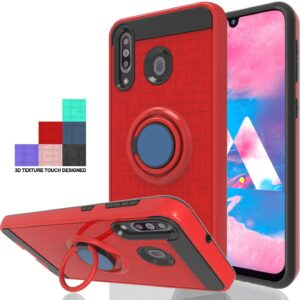 Wtiaw Dual Layer Protective Case with Stand for Galaxy M30
