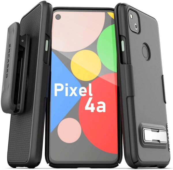 Perfectly Designed Encased Google Pixel 4a Belt Case with Kickstand