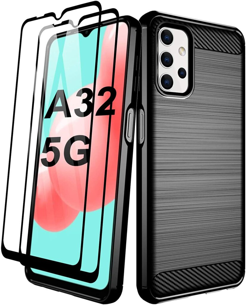 Aliruke Samsung Galaxy A32 5G Back Cover with Tempered Glass Screen Protector