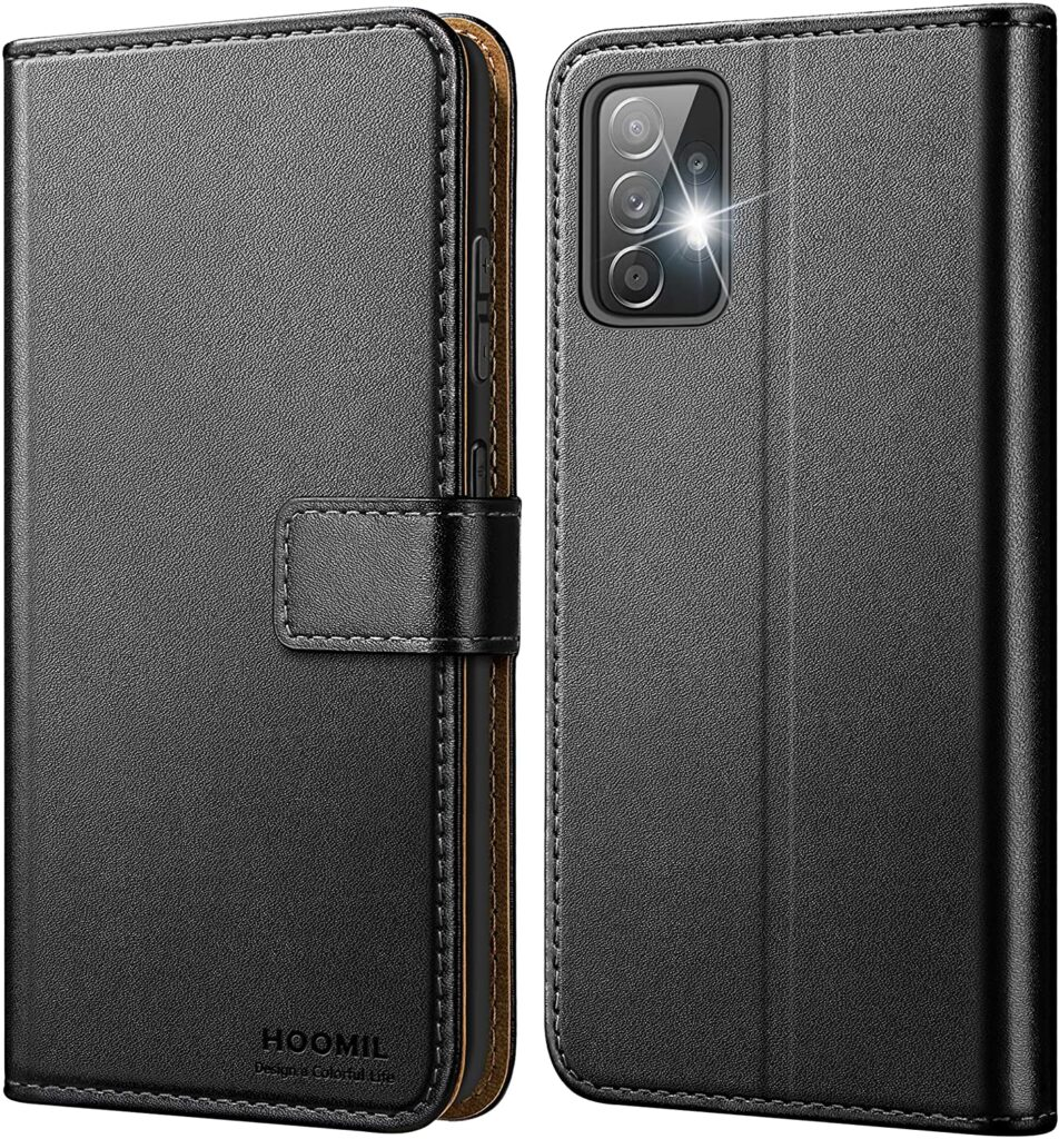 Reliable Hoomil Samsung Galaxy A52 wallet case with 2 Card Slots