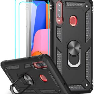 LeYi case for Samsung Galaxy A20s With 2 Tempered Glass Screen Protectors