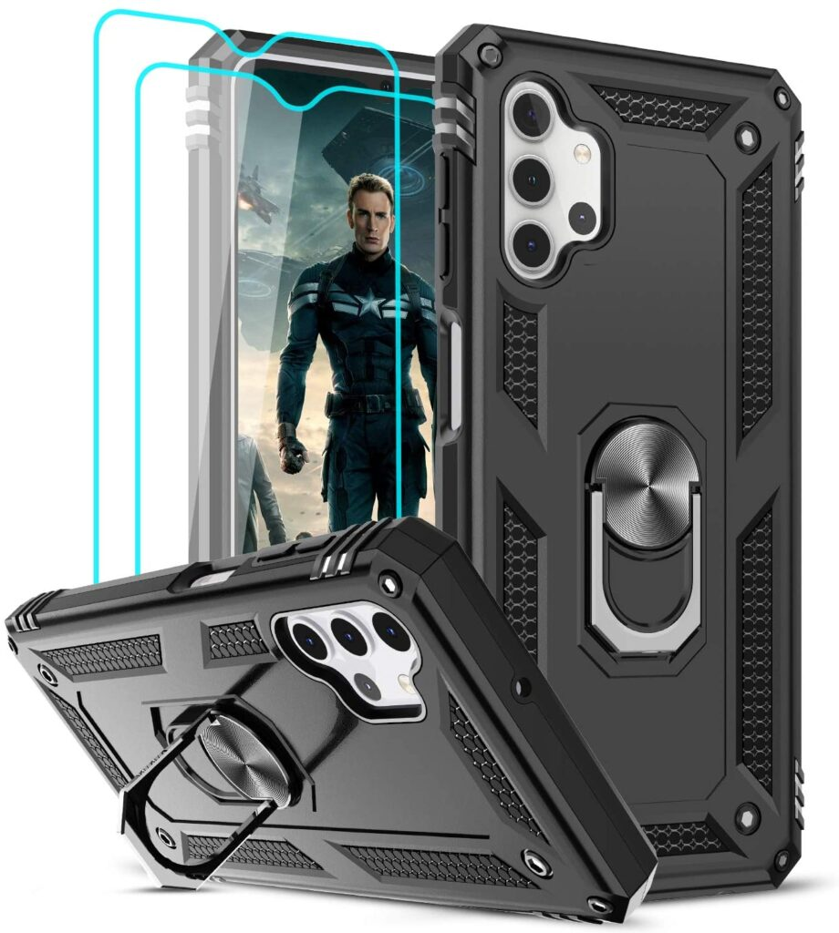 LeYi Samsung A32 5G Case (Not Fit A32 4G) with Tempered Glass Screen Protector