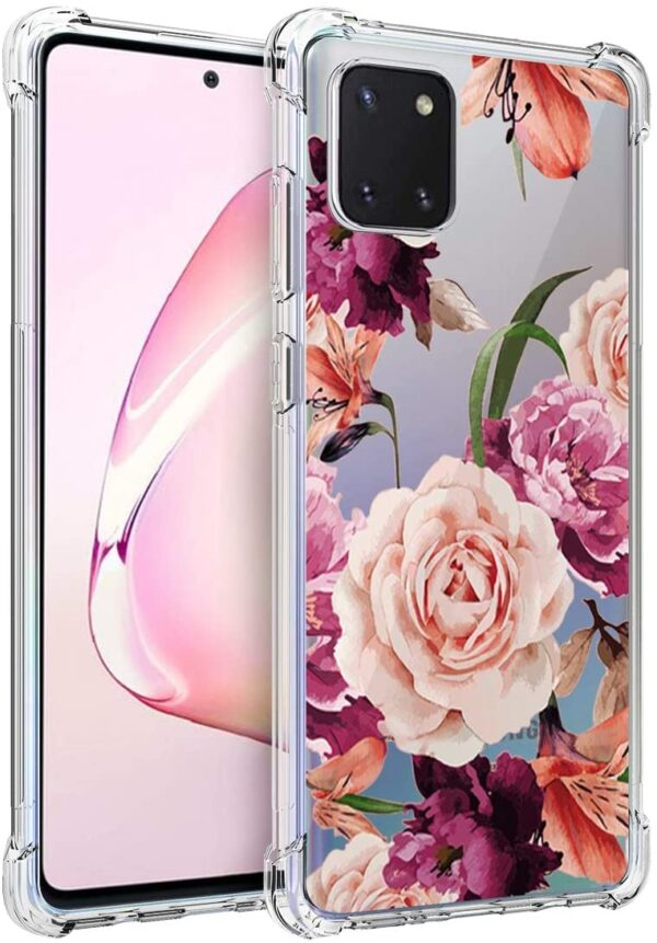 Osophter Samsung Galaxy A81 Case For Women With Shock Absorption