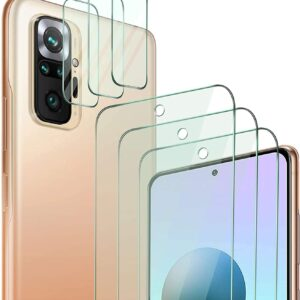 QHOHQ Redmi Note 10 Pro Back Cover with 3 Packs Camera Lens Protector