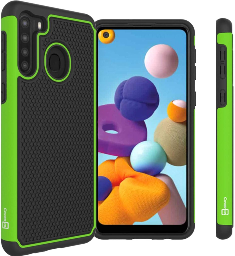 CoverON Grip Cover for Samsung Galaxy A21 Case