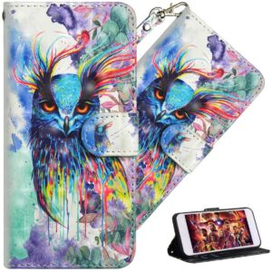 Protective QIVSTARS Samsung F41 Flip Cover Case With 3D Paint Design