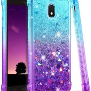 Samsung Galaxy J7 Case 2018 - Glitter Flowing Liquid Phone Case